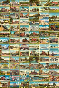 ARTEFACTS - antique images: Postcard Wallpaper Advertising — FREE printable art for personal use onl Vitrine Miniature, Miniature Houses, Miniature Dolls, Diy Dollhouse, Dollhouse Miniatures, Barbie Miniatures, Vintage Dollhouse, Wooden Dollhouse, Minis