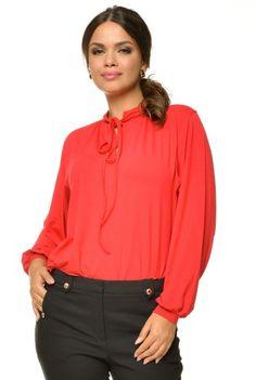 Bluza eleganta din vascoza BN01 rosu