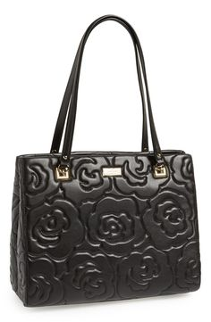 Love this floral 'sedgewick lane rose - phoebe' leather tote by Kate Spade