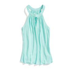 Stitch Fix Summer Brights: Mint Halter Blouse