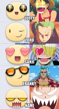 different personalities among the Straw Hats
