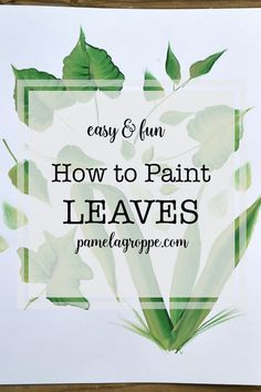 How to Paint Leaves in Acrylics, an easy, beginner painting tutorial to paint leaves in acrylics one stroke at a time. How to Paint Leaves in Acrylics, an easy, beginner painting tutorial to paint leaves in acrylics one stroke at a time. Painting Leaves Acrylic, Plant Painting, Acrylic Painting Techniques, Acrylic Art, Diy Painting, Painting Flowers, How To Paint Flowers, Painting Quotes, One Stroke Painting