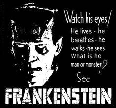 "cryptofwrestling: "" Ad for Frankenstein (1931) """
