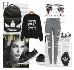 """""""Untitled #88"""" by erna-pozderovic ❤ liked on Polyvore featuring Topshop and adidas"""