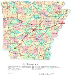 large collection of free, printable state maps