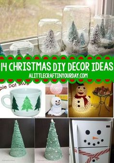 Are you looking for decor ideas for christmas, if so you're going to love these 14 Christmas DIY Decor Ideas. Check it out!