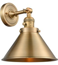Hey Look What I found at Lighting New York Innovations Lighting Briarcliff 1 Light 10 inch Brushed Brass Sconce Wall Light, Franklin Restoration Outdoor Wall Lighting, Wall Sconce Lighting, Wall Sconces, Brass Wall Lights, Kitchen Lighting, Bedroom Light Fixtures, Brass Sconce, Light Fittings, Bb