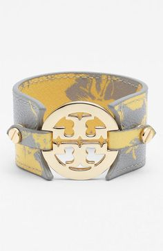 Must have: printed leather Tory cuff. #Nordstrom