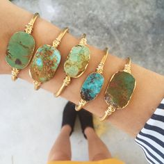 PRE-ORDER  Genuine Natural Raw Turquoise Cuff Bracelet by GypsetCo
