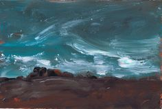 """Wild Winds"" small watermedia painting by Sharon Giles"