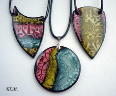 Neat clay pendants using ink?