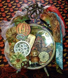 Two Crafting Sisters: Challenge: Steampunk Spells Clock