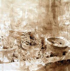 Nono garcía, pintor Murcia, Pintura recienteEspecias mixta/papel mixed media/paper  100x100 cm.