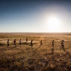 A group of ten ultrarunners attempted to chase down a pronghorn antelope in Northern New Mexico to answer the question of how humans evolved with a remarkable capacity for endurance running