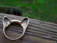 Welsh Corgi Ears Ring MADE TO ORDER. $47.00, via Etsy. // Y'ALL.