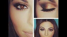 easy eye makeup tutorial for beginners brown eyes - YouTube