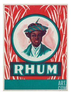 Rhum Rum Label Art Print at Art.com