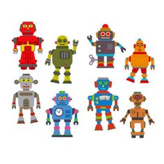 Robots Stickers (3 Sheets)