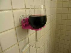 ♥ bathtub wine glass holder