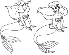 Princess Ariel Mermaid Coloring Page Princess Ariel Pinterest