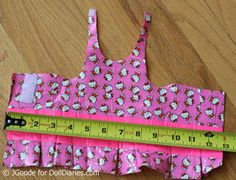 Doll Duct Tape dress pattern