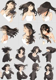 Hair drawing, long hair drawing, anime hair drawing, drawings of hair, hair s Drawing Poses, Manga Drawing, Drawing Sketches, Drawing Tips, Drawing Ideas, Art Drawings, Anime Hair Drawing, Wind Drawing, Body Sketches