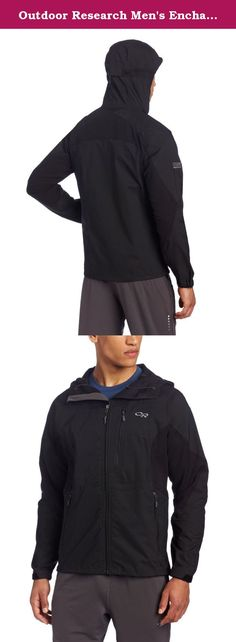 Outdoor Research Men's Enchainment Jacket, Black, Medium. Breathable, versatile and offering shelter from everything but the burliest of downpours, the Enchainment excels during high energy mountaineering, ski mountaineering and alpine climbing. The tightly woven soft shell fabric blocks wind and sheds snow, and the highly breathable Schoeller Nano Sphere stretch panels allow for dynamic movement and expel excess heat. For aerobic endeavors in the high country, the Enchainment is a sure…