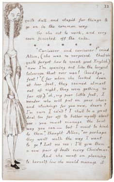 Carroll's final drawing in the manuscript | Alice: 150 Years of Wonderland | The Morgan Library & Museum Online Exhibitions