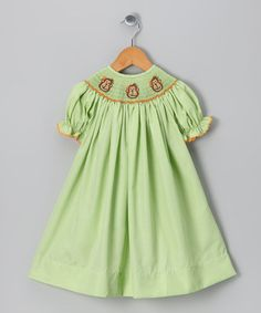 Take a look at this Green Monkey Bishop Dress - Infant & Girls by Molly Pop Inc. on #zulily today!