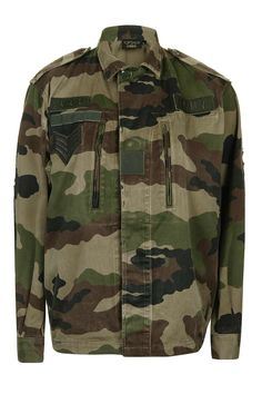 Camouflague Sequin Patch Jacket By Topshop Finds - Topshop