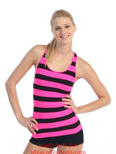 Long length, fitted tank tops are perfect for cheer & dance practice!  Stripes, solids, & tie dye.  One size fits child 8 - adult S.