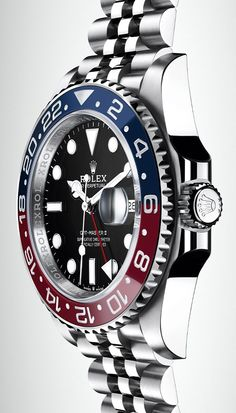 The new Rolex GMT-Master II is equipped with the new-generation calibre at the forefront of watchmaking technology. The new Rolex GMT-Master II is equipped with the new-generation calibre at the forefront of watchmaking technology. Amazing Watches, Beautiful Watches, Cool Watches, Wrist Watches, Rolex Gmt Master, Rolex Datejust, Rolex Explorer, Swiss Army Watches, New Rolex