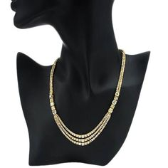 Triple chain. Diamonds & Gold