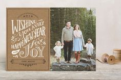 Rustic Wishes New Year Photo Cards by Griffinbell Paper Co. at minted.com