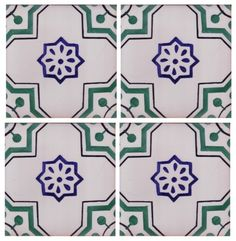 Sintra Antique Handpainted, Portuguese, Tiles - A1-Portuguese tiles - 169-Cabo Verde 4 tile