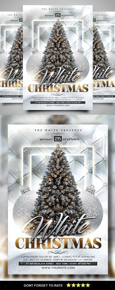 Buy Christmas Flyer by AyumaDesign on GraphicRiver. Packages : 1 PSD File Read me Features : Size + bleed area Organized layer and grouped CMYK 300 DPI All . Merry Christmas, Christmas Night, Gold Christmas, Event Flyer Templates, Flyer Design Templates, Christmas Flyer Template, Restaurant Flyer, Holiday Fun, Holiday Decor