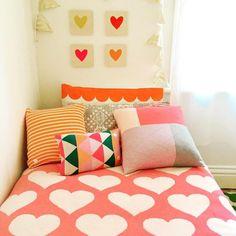 Bonnie's Room - Cushions by Uimi - Australian Knitwear - www.uimi.com.au - Blanket by Blanki Knitwear www.blanki.com.au