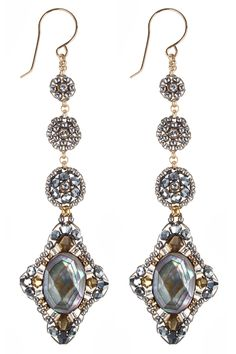 Miguel Ases Abalone Glow Earrings