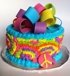So lovely cake Sweets Cake, Cupcake Cakes, Peace Sign Cakes, Tie Dye Cakes, Birthday Parties, Birthday Cake, Birthday Ideas, Tie Dye Party, More Cupcakes