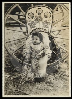 +~+~ Antique Photograph ~+~+  Sweet baby papoose.