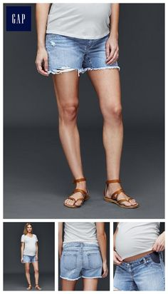 41d133105901 AUTHENTIC 1969 inset panel denim summer shorts - The perfect short-short. Maternity  Shorts
