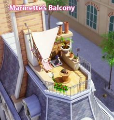 I WANT TO LIVE IN MARINETTES HOUSE SO BADLY. Her balcony is balcony goals
