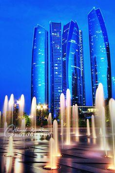 Jumeirah Etihad Towers - Abu Dhabi, United Arab Emirates  by ahmedwkhan http://www.kombiurlaub.eu/abu-dhabi