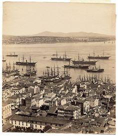 Galata Kulesi'nden Panorama - 4 Basile Kargopoulo, 1870'ler