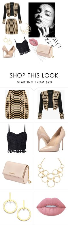 """Autumn style"" by hadzic-ramiza ❤ liked on Polyvore featuring Balmain, Lipsy, Massimo Matteo, Givenchy, Vera Bradley, Vita Fede and Lime Crime"