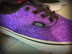 VANS glitter... not high, just steppin'