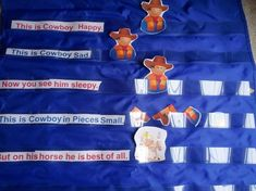 Cowboy Happy Poem and Free Printables to Make Pocket Chart!