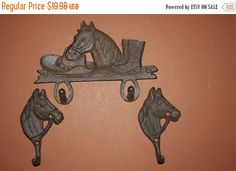 ON SALE 3 pcs Country Western Cast Iron Ready to by WePeddleMetal