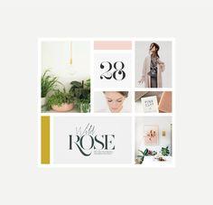 Rosiegold | Design by Rowan Made | + Mood board presentation.