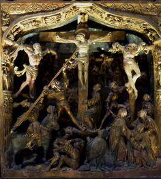 The Troyes Altarpiece (c.1525), Crucifixion | da jacquemart
